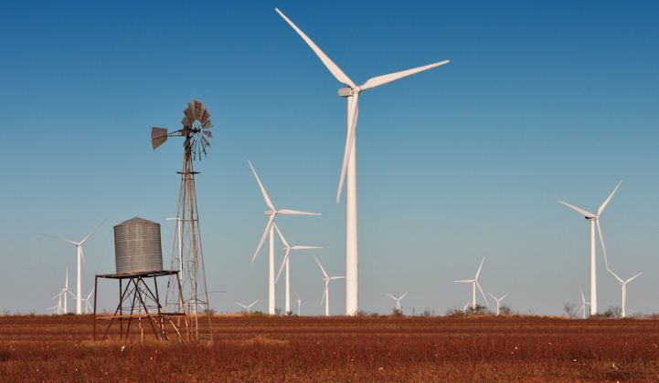 A snapshot of Texas's growing appetite for wind and solar power.