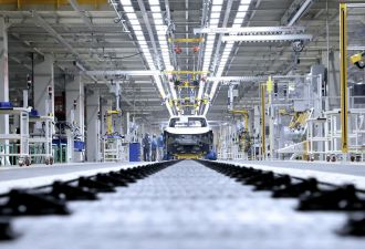 Volkswagen's new Shanghai EV factory, a partnership with local firm SAIC Motors. (Credit: Volkswagen)