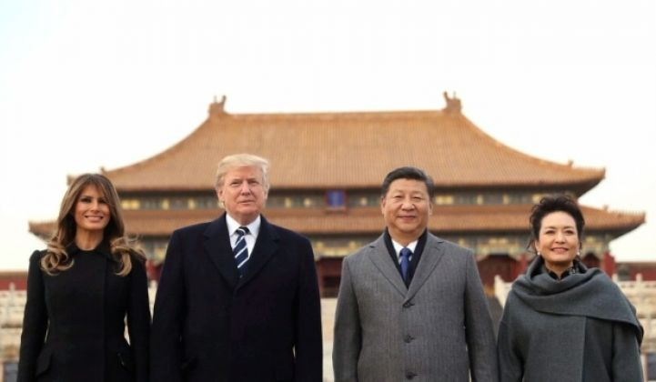 President Trump meets with President Xi Jinping on a trip to China.