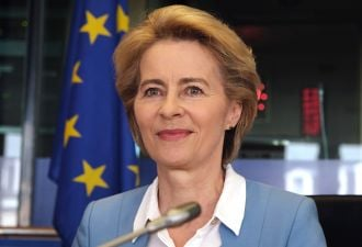 Keen on green: New European Commission President Ursula von der Leyen.