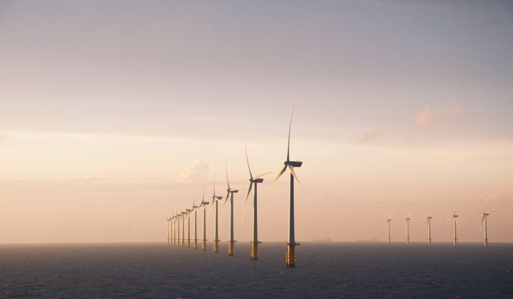 Vattenfall's existing Thanet offshore wind farm, which it hopes to double in size. (Credit: Vattenfall)