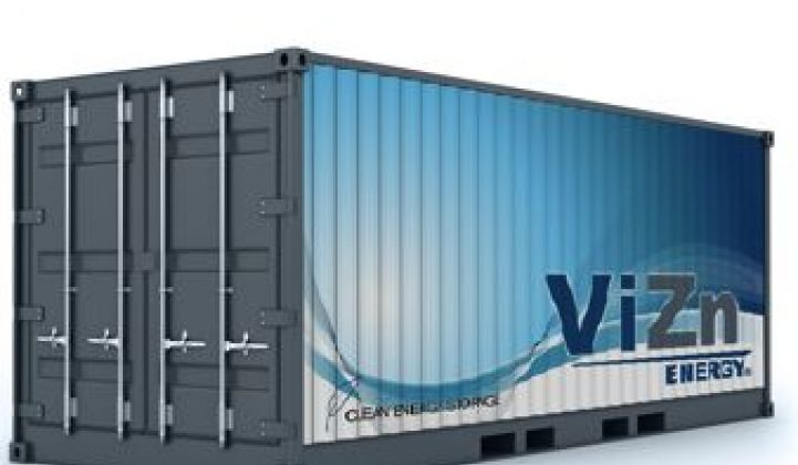 ViZn Energy: A New Flow Battery Contender in the Grid-Scale Storage Race