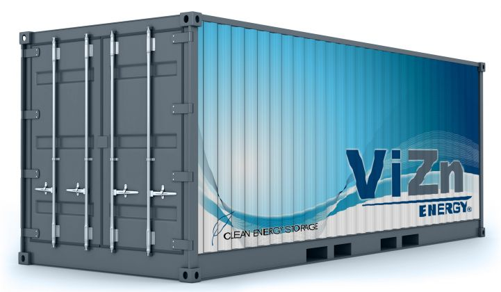 ViZn Targets $200 per Kilowatt-Hour for High-Power Flow Batteries