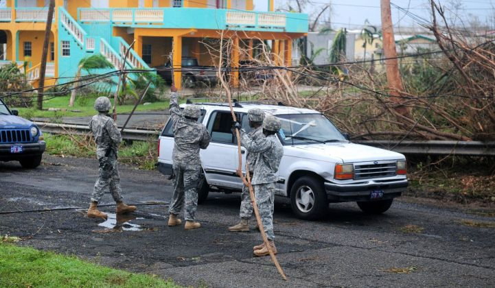 U.S. Virgin Islands electrical wires after Hurricane Maria.