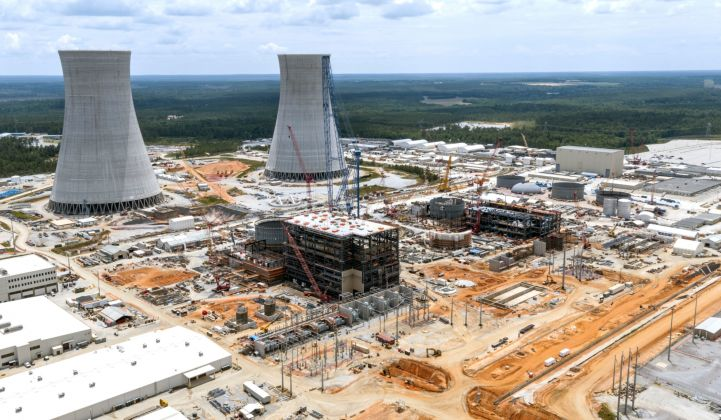 Construction underway at the Vogtle nuclear plant in Georgia.