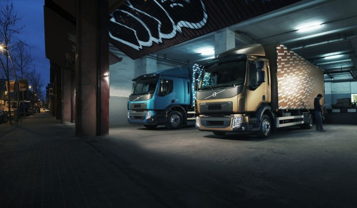 Volvo is conducting tests on how to manage fleets of electric trucks.