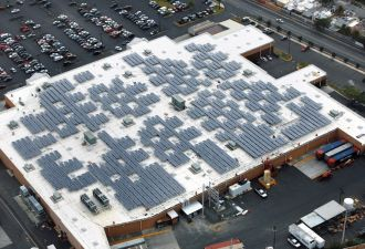 Walmart has moved aggressively in deploying both on- and off-site renewables.