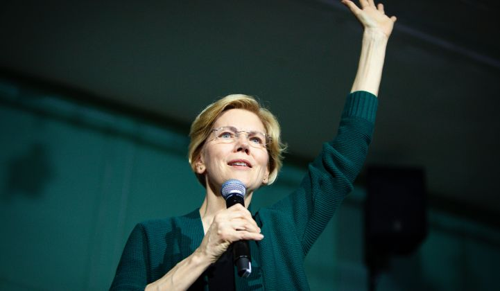 Elizabeth Warren's got a plan for that. Yes, another one.