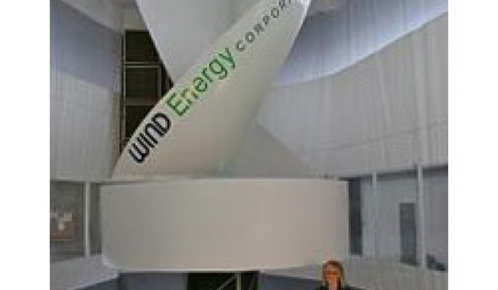 Wind Energy Corp. Raises Cash, Installs First Small-Wind Turbine