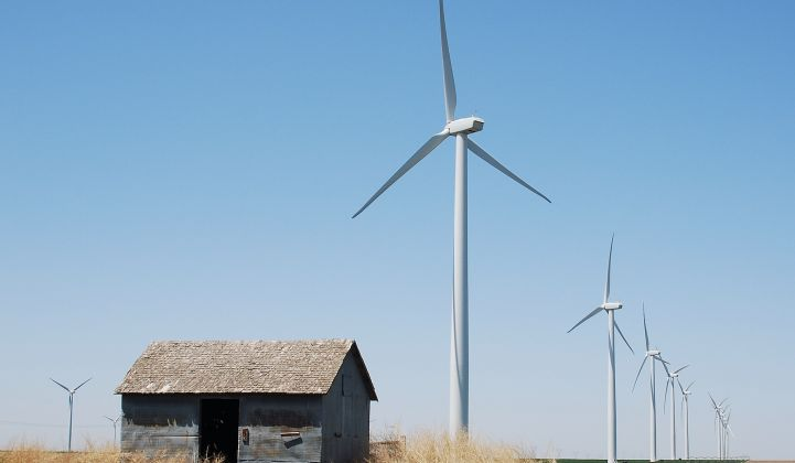 Wind prices are falling, driven by projects in the middle of the U.S.