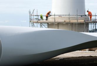 More than 20 gigawatts of wind farms are under construction in the U.S., according to AWEA.