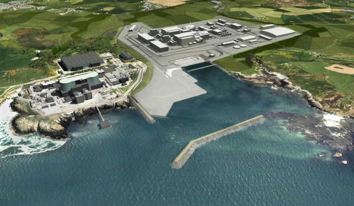 A mock-up of the Wylfa Newydd nuclear power site, which Hitachi says it will hand over to any interested party. (Credit: Horizon Nuclear Power)
