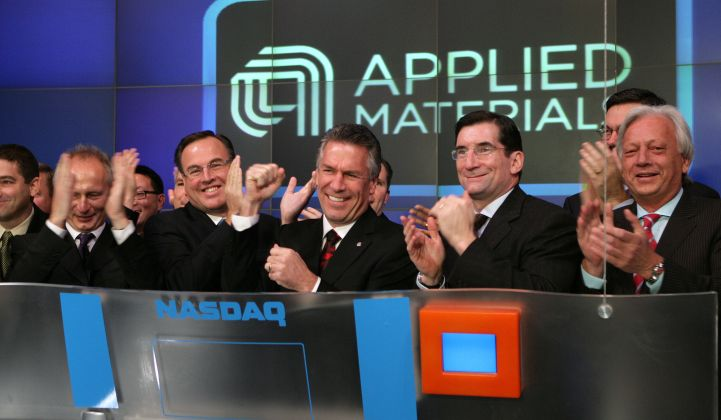 "Applied Materials: Good Quarter but ""Very Cautious"" About Solar's Future"