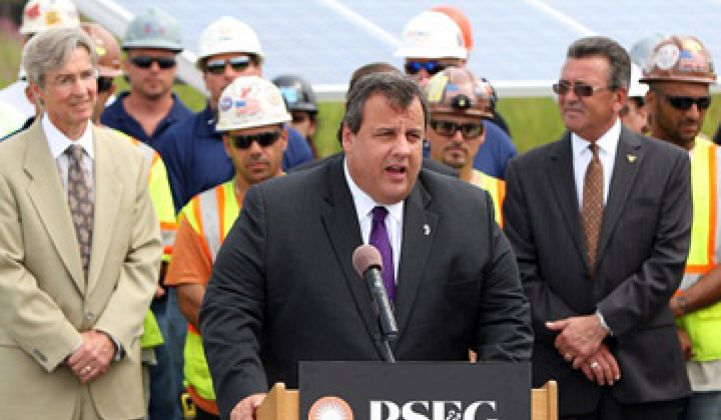 New Jersey's Christie: A Rare Solar-Friendly Republican