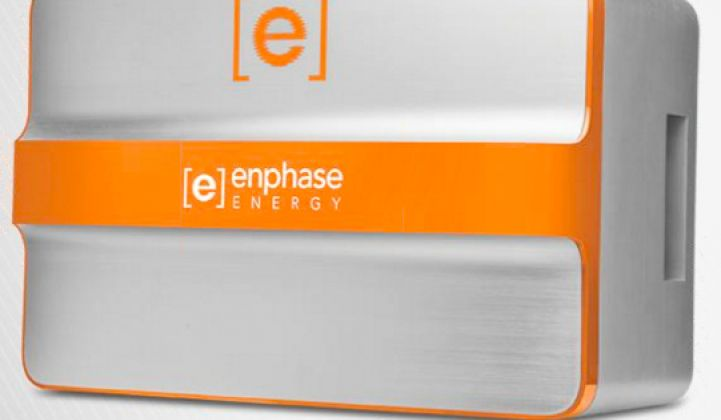 Enphase Charges Into the Energy Storage Market