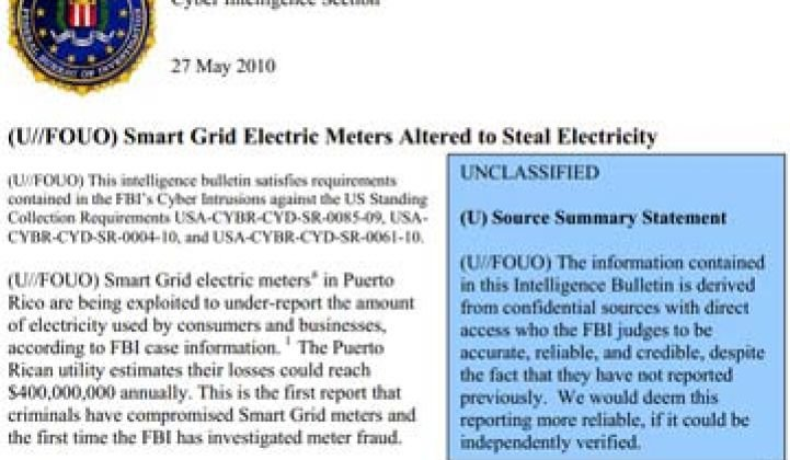 FBI Finds Smart Meter Hacking Surprisingly Easy
