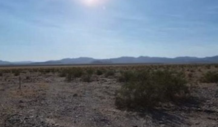 Big Solar, California Desert County Make Peace