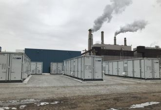 This FlexGen storage system in Indiana provides blackstart capabilities for a utility. (Image credit: FlexGen)