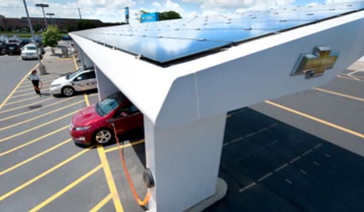 GM Invests $7.5 Million in Solar Parking Garage Maker Sunlogics
