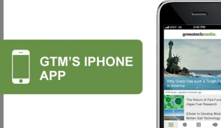 Greentech Media Launches iPhone App
