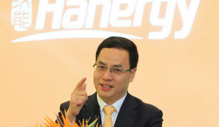 Update: Hanergy Thin Film CEO Shorts Stock Days Before Price Plummets