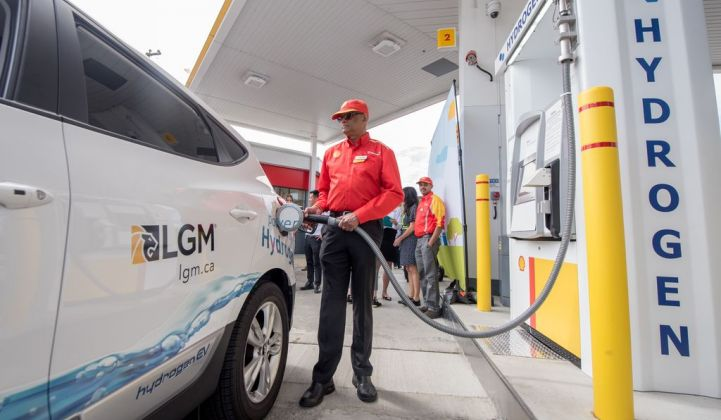 Shell's network of hydrogen fuelling stations is growing. (Credit: Shell/Brian Buchsdruecker)