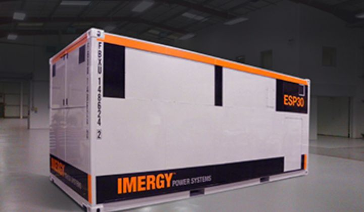 Imergy's Vanadium Flow Battery Aims to Compete With Lithium and Lead-Acid at Grid Scale