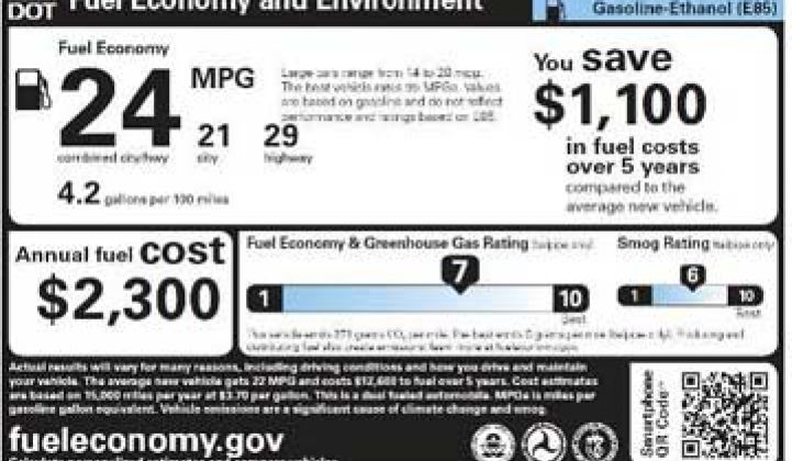 New Fuel Economy Labels May Give a Boost to Electric Vehicles