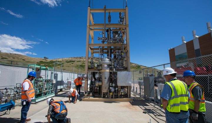 NREL bioreactor at power to gas pilot facility.