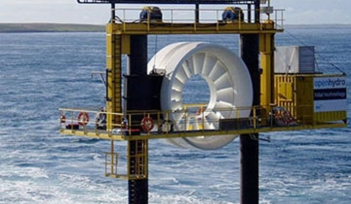 A Big Setback for Tidal Power