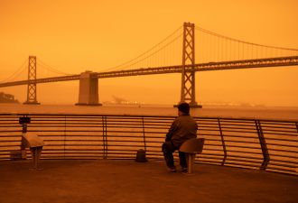 As the American West burned, an eerie orange glow settled on cities like San Francisco.