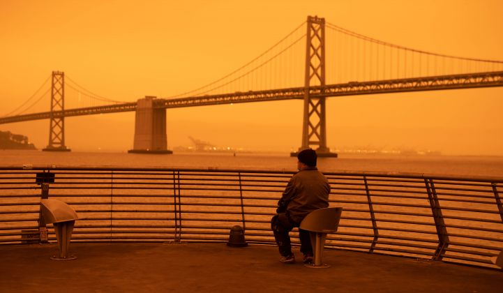 As the American West burned, an eerie orange glow settled on cities including San Francisco.