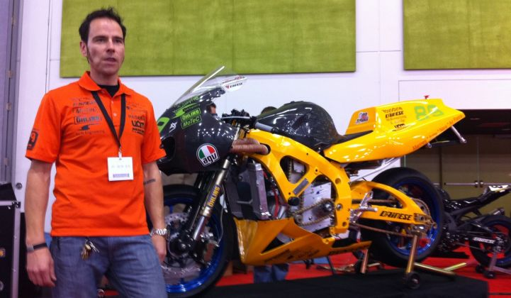 Chip Yates Shows Off His Electric Superbike (Video)