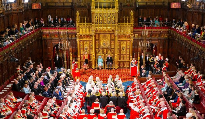 The Queen's Speech, pomp, pageantry and offshore wind. (Credit: Copyright House of Lords/Photography by Roger Harris)