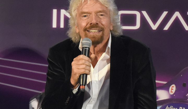 Sir Richard Branson Talks Self-Driving Race Cars, Investing in Cleantech, and Fake Meat