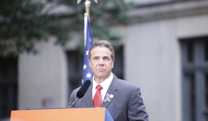 Gov. Andrew Cuomo presented energy plans for New York in the 2018 State of the State address.