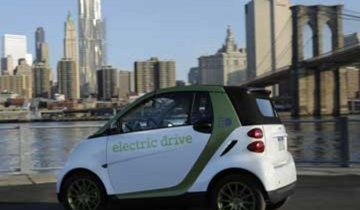 Taking the Smart Fortwo Electric Car for a Test Drive