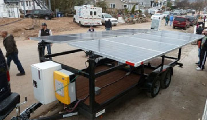 Can Solar Generators Get a Toehold After Sandy?