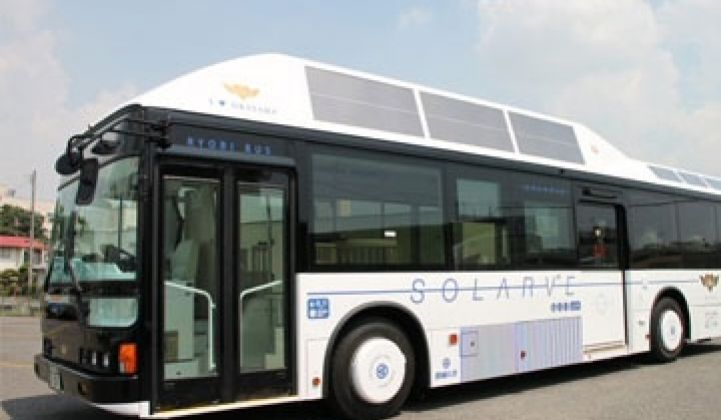 Japanese Firm Equips Public Bus With PV Panels