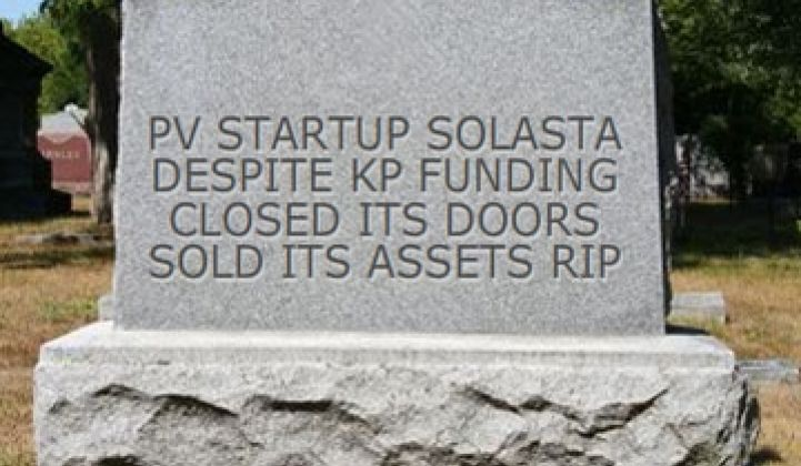 And Then There Were 240: Solar Startup Solasta Succumbs