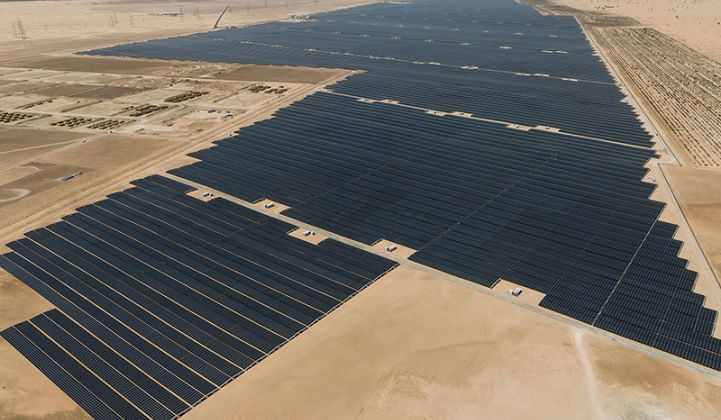JinkoSolar co-developed the 1.2-gigawatt Noor Abu Dhabi project in the UAE (Credit: EWEC)