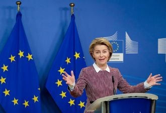 European Commission President Ursula von der Leyen is charting a path toward net-zero status by 2050.