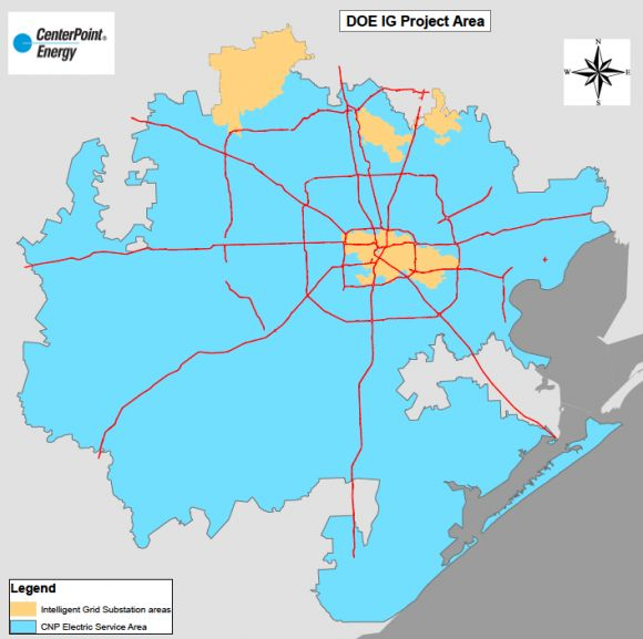 How CenterPoint's Integrated Smart Grid Is Paying Off ... on bloomington map, center point energy system map, oncor map,