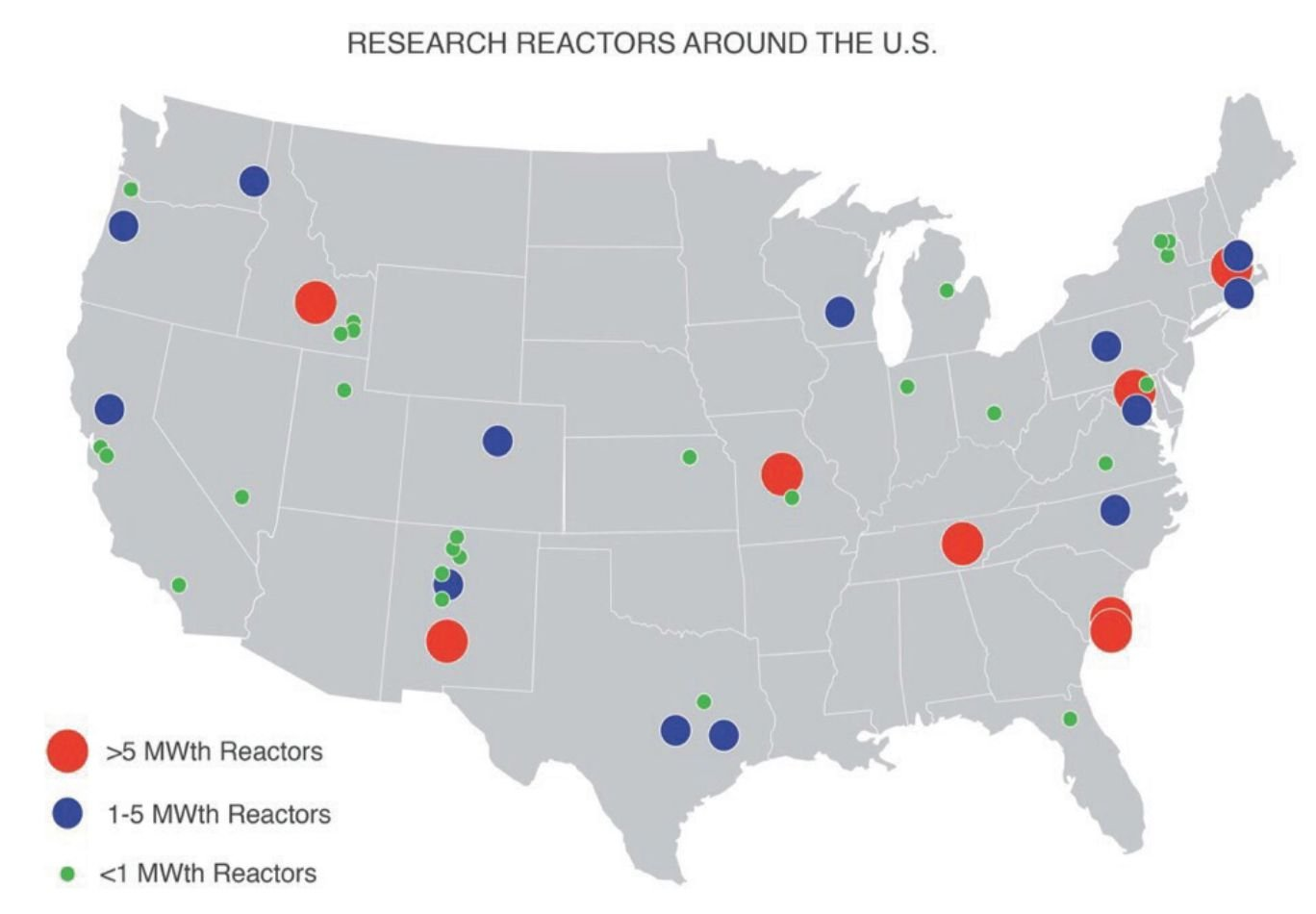 How To Jump Start A Micro Nuclear Reactor Industry In The Us - Us-nuclear-reactor-map