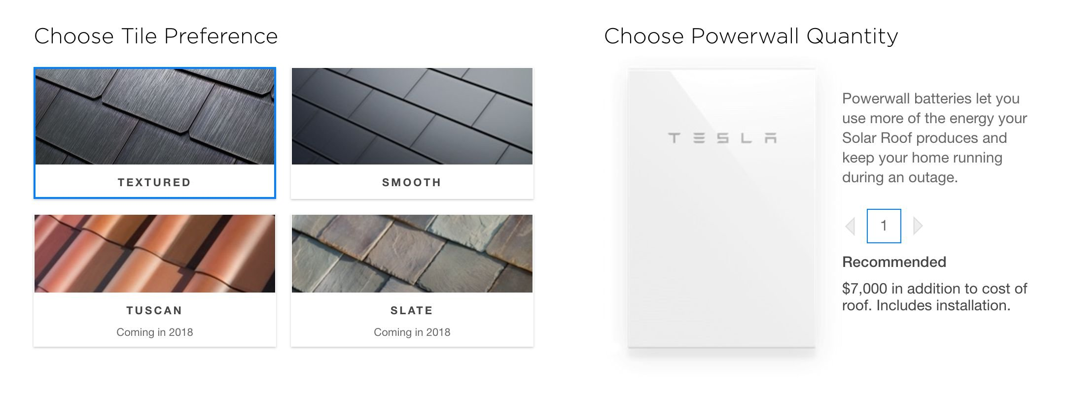 tesla solar roof tile preference and style